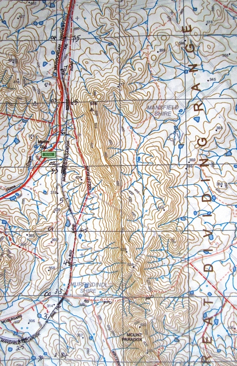 Topo map from McGuigans Road